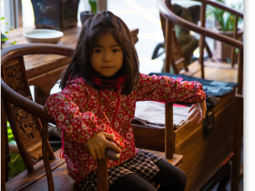 台北 圓融坊の少女