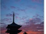 興福寺 五重塔の朝焼け